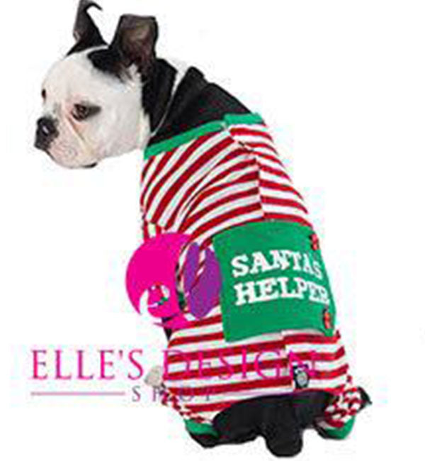 Christmas Pajamas For Dog.Details About Dog Christmas Red Striped Pajamas