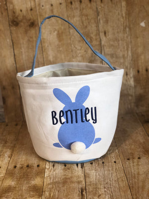 Cotton Tail Personalized Bunny Easter Basket