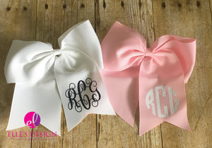 Monogrammed Personalized Bow  W/HAIRTIE