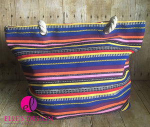 Colorful Rope Handle Beach Bag