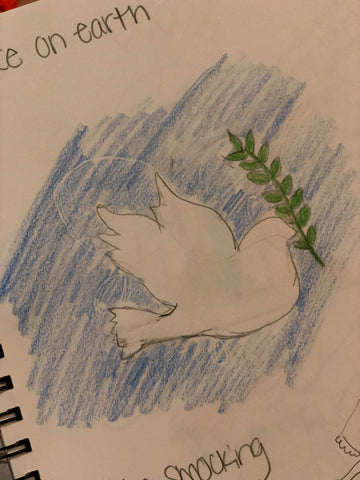 Original design sketch for 'Peace on Earth'
