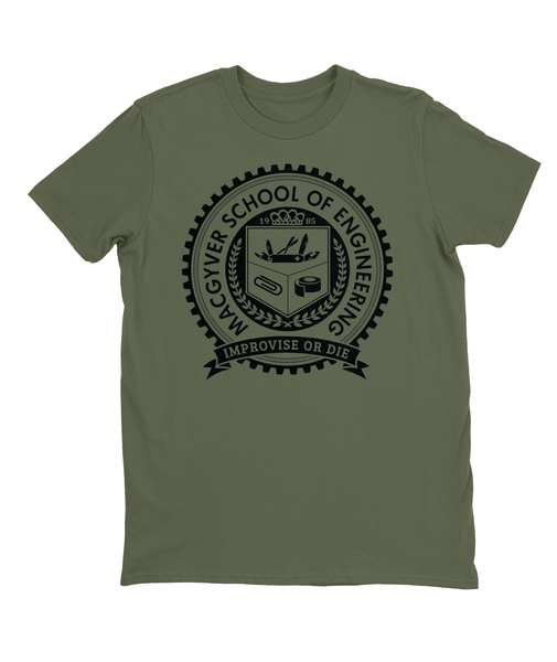 MacGyver School of Engineering T-shirt Men's Fitted Tee City Green
