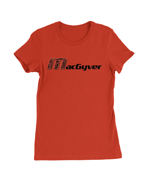 MacGyver Tools of the Trade T-Shirt Womens Fitted Tee