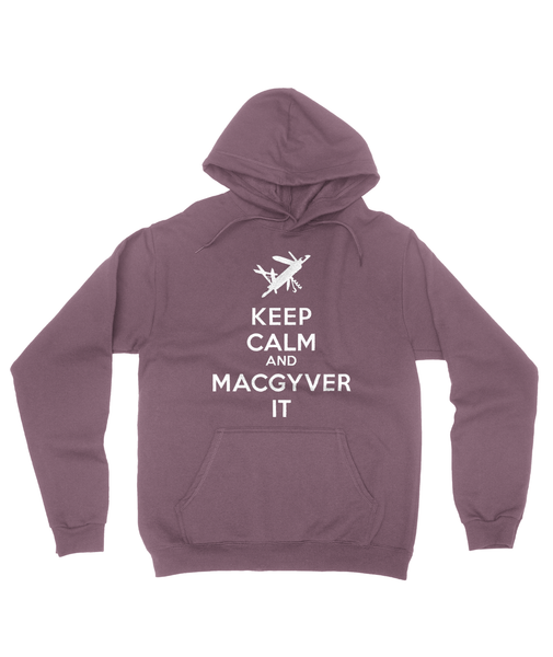 Keep Calm and MacGyver It Hoody Mens Pullover Hoodie