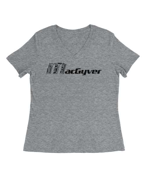 MacGyver Tools of the Trade T-Shirt Womens V-Neck Tee