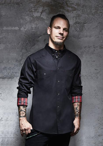 Kochhemd Button-Down ROCK CHEF® Stage 2