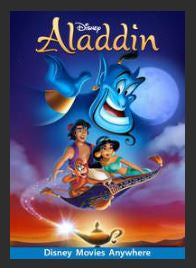 Aladdin HDX Google Play Redeem (Ports MA) NO Points Disney