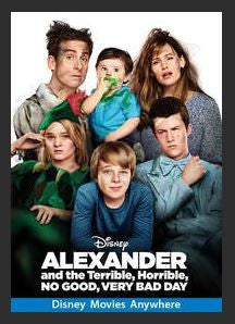Alexander and the Terrible, Horrible, No Good, Very Bad Day HDX DMA MA (Ports to Vudu and iTunes)
