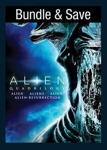 Alien Quadrilogy Special Edition/Director's Cut (Alien, Aliens, Alien3, Alien Resurrection Theatrical) SD UV Vudu or MA Redeem (Ports to Vudu Google Play, iTunes, Amazon)