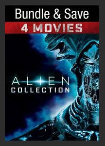 Alien Quadrilogy Theatrical (Alien, Aliens, Alien3, Alien Resurrection) SD UV *Vudu Redeem* (Ports to MA MoviesAnywhere)