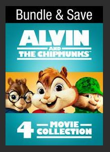 Alvin and the Chipmunks 4-Pack (Bundle) HDX UV or MA Redeem (Ports to MA MoviesAnywhere iTunes Google Play)