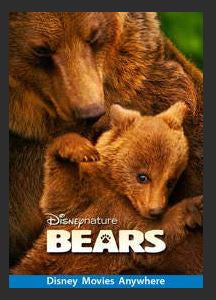 Bears (2014) HDX Google Play Redeem (Ports to MA MoviesAnywhere) NO Points Disney