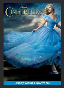 Cinderella (2015) SD Google Play Redeem (Ports to MA MoviesAnywhere) NO Points Disney