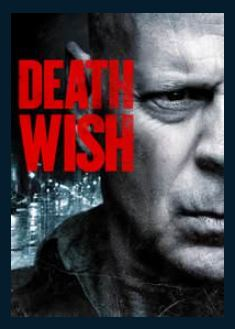 Death Wish HDX UV Vudu or Google Play Redeem