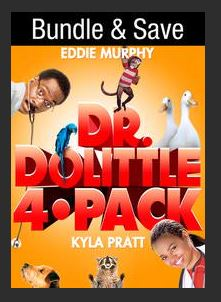 Dr. Dolittle 4-Pack HDX UV Vudu Redeem (Ports to MA iTunes Google Play)