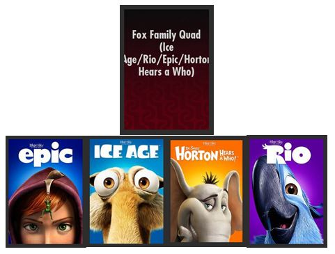 Ice Age - Rio - Epic - Horton Hears a Who! 4-Movie Collection HDX UV MA (Ports to Vudu iTunes Google Play)