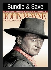 John Wayne 4-Film Collection HDX UV or MA Redeem (Ports to MA Movies Anywhere Vudu iTunes Google Play and Amazon)
