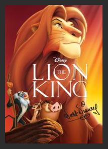 The Lion King HDX Google Play Redeem (Ports to MA MoviesAnywhere) NO Points Disney