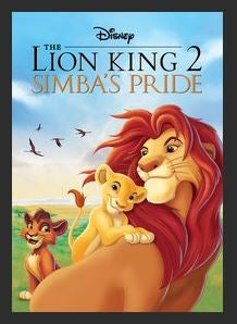 The Lion King 2: Simba's Pride HDX DMA Vudu or MA Redeem (Ports to iTunes and Amazon) Disney