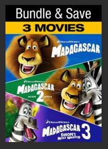Madagascar:  Complete Collection HDX UV (Madagascar 1, 2, 3) Vudu Redeem (Ports to MA MoviesAnywhere)