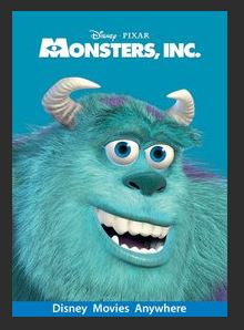 Monsters, Inc HDX Google Play Redeem (Ports to MA MoviesAnywhere) NO Points Disney