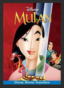 Mulan HDX Google Play (Ports to MA MoviesAnywhere) Disney No Points