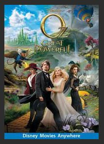 Oz the Great and Powerful HDX DMA MA or Vudu Redeem (Ports to iTunes)