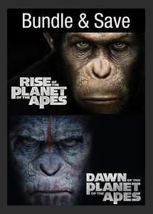 Rise of the Planet of the Apes / Dawn of the Planet of the Apes (Bundle) SD UV *Vudu Redeem* (Ports to MA MoviesAnywhere)