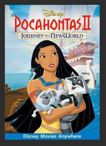 Pocahontas II: Journey to a New World HDX DMA MA or Vudu Redeem (Ports to Vudu and iTunes)