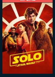 Solo: A Star Wars Story HDX DMA MA or Vudu Redeem (Ports to iTunes)