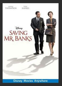 Saving Mr. Banks HDX DMA MA or Vudu Redeem (Ports to iTunes)