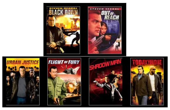 Steven Seagal Mega Movie Action Pack #1 SD UV *Vudu Redeem* (Some are MA MoviesAnywhere) see description)