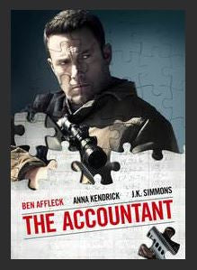 The Accountant 4K UHD UV or MA Redeem (Ports to iTunes and Google Play)