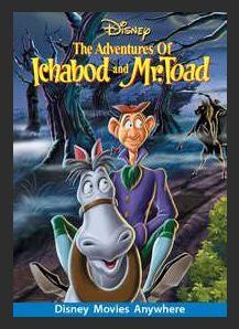The Adventures of Ichabod and Mr. Toad HDX DMA MA or Vudu Redeem (Ports to Vudu and iTunes)