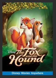 The Fox and the Hound HDX DMA MA or Vudu Redeem (Ports to Vudu or iTunes)