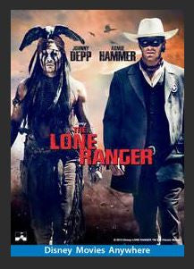 The Lone Ranger HDX Google Play Redeem (Ports to MA MoviesAnywhere) No Points Disney