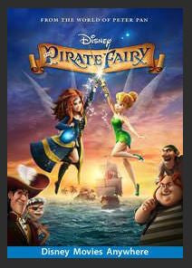 The Pirate Fairy HDX DMA MA or Vudu Redeem (Ports to Vudu and iTunes)