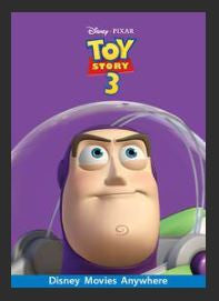 Toy Story 3 HDX Google Play Redeem (Ports MA) No Points Disney