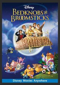 Bedknobs and Broomsticks SD Google Play Redeem (Ports to MA MoviesAnywhere) NO Points Disney