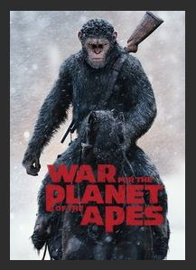 War for the Planet of the Apes HDX UV Vudu or iTunes or Google Play or MA Redeem