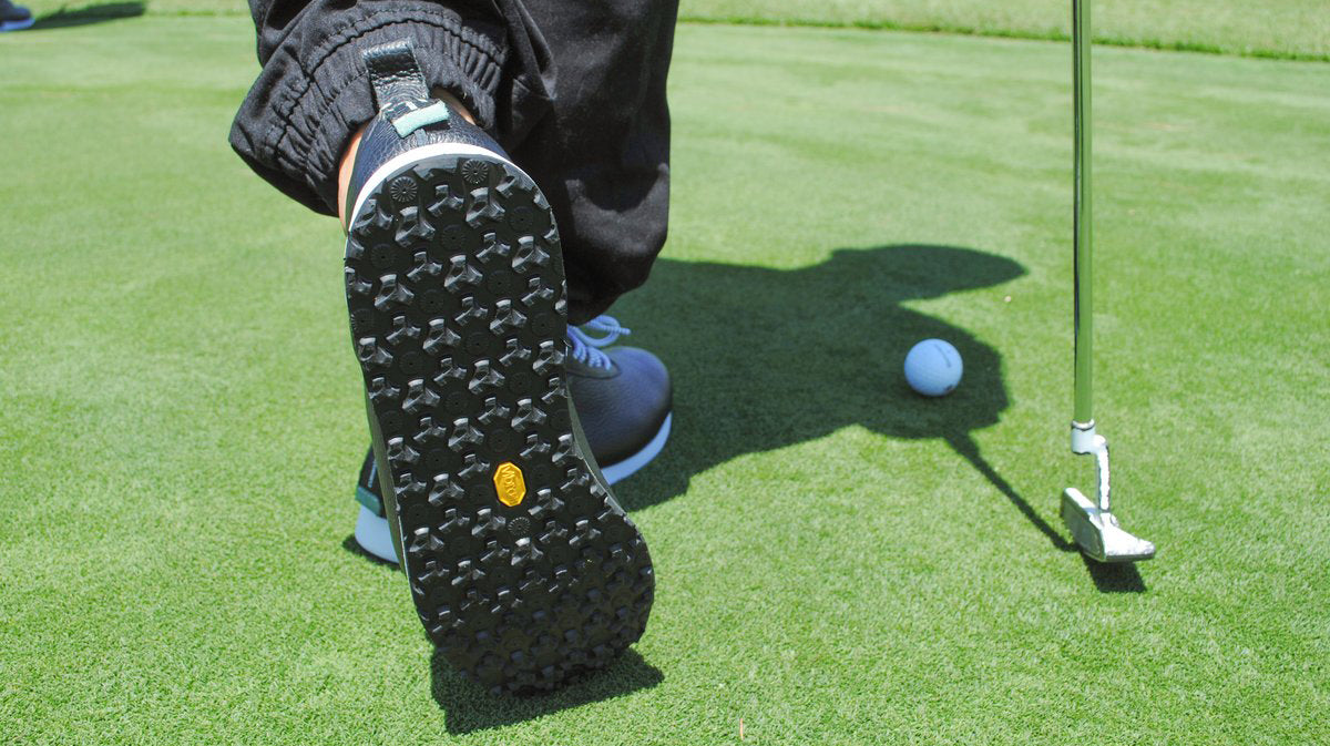 Handmade to order custom golf shoes