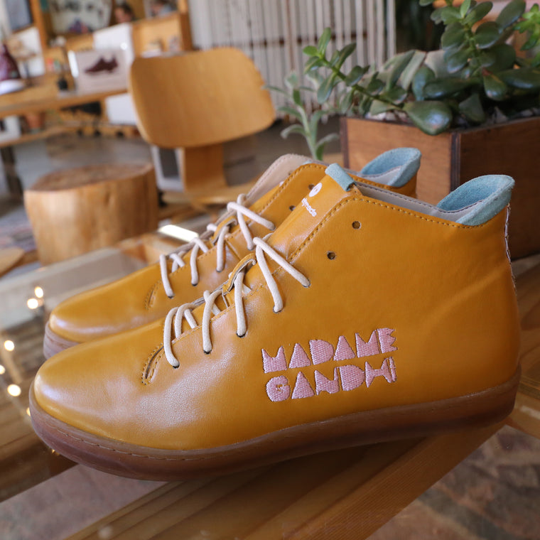 Madame Gandhi custom shoe Vision 2020