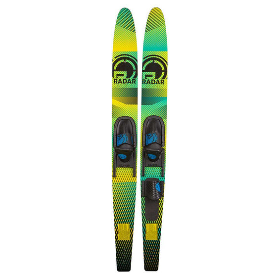 "Radar Origin 59"" Combos w/ Adj Horseshoe Bindings Green/Yellow"
