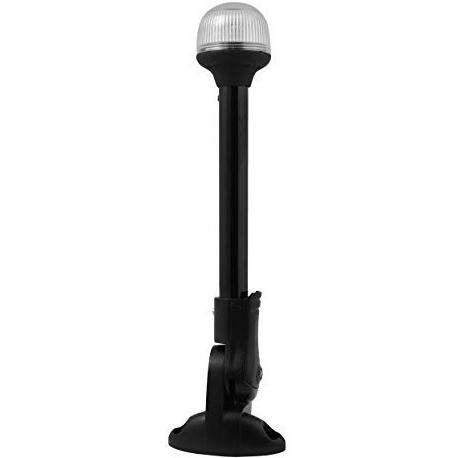 "Attwood 12"" Black Plastic Pole Fold Down White All-Round Light - Wakeboss"