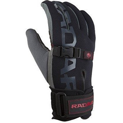 Radar World Tour Glove - Black/India Red - Wakeboss