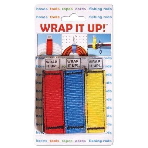 Kwik Tek WR-123 Wrap It Up 3 Per Blister Pack (Red, Blue,Yellow) - Wakeboss