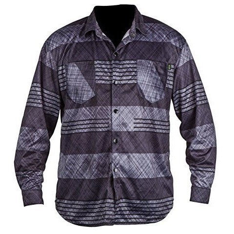 Ronix Forester - Quick Dry Long Sleeve Riding Jersey - Grey Plaid - Wakeboss