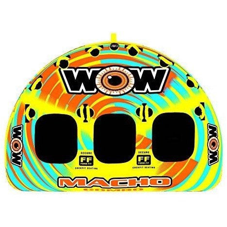 WOW Sports WOW World of Watersports, Macho 16-1030 1 to 3 Person Towable Tube, Multiple Riding Positions - Wakeboss