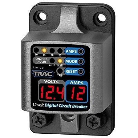 Trac Outdoor T10170 12V Digital Circuit Breaker with Display - Wakeboss