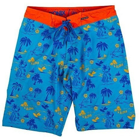 Ronix Aloha Tight & Right (Blue/Orange) Boardshort - Wakeboss
